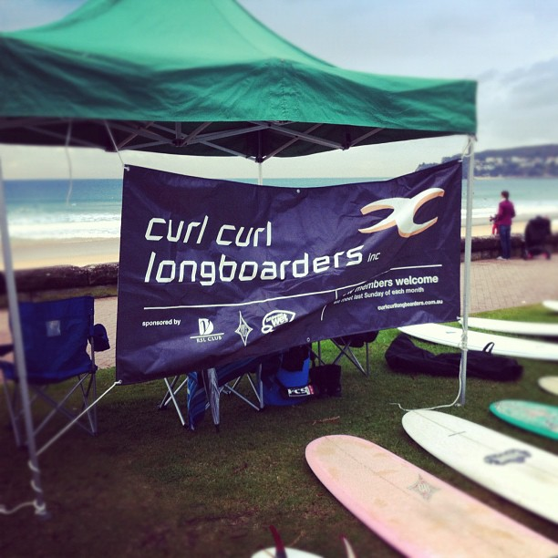Curl curl Longboarders at the Snowy. Sean Dry and Troy through in the over 35, Tommy Leach through in the Open, Tim Reilly through in the Old Mal. - instajam