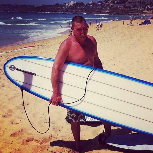 Phil C at the Club comp on Sunday. Waves. Tick. Summer. Tick. Crowds. Tick. - instajam