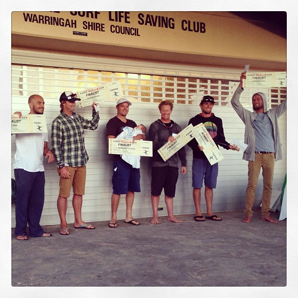 Single fin final with winner Harley Ingleby. Runner up Jye Burns @harleyingleby  #maljam2013 - instajam